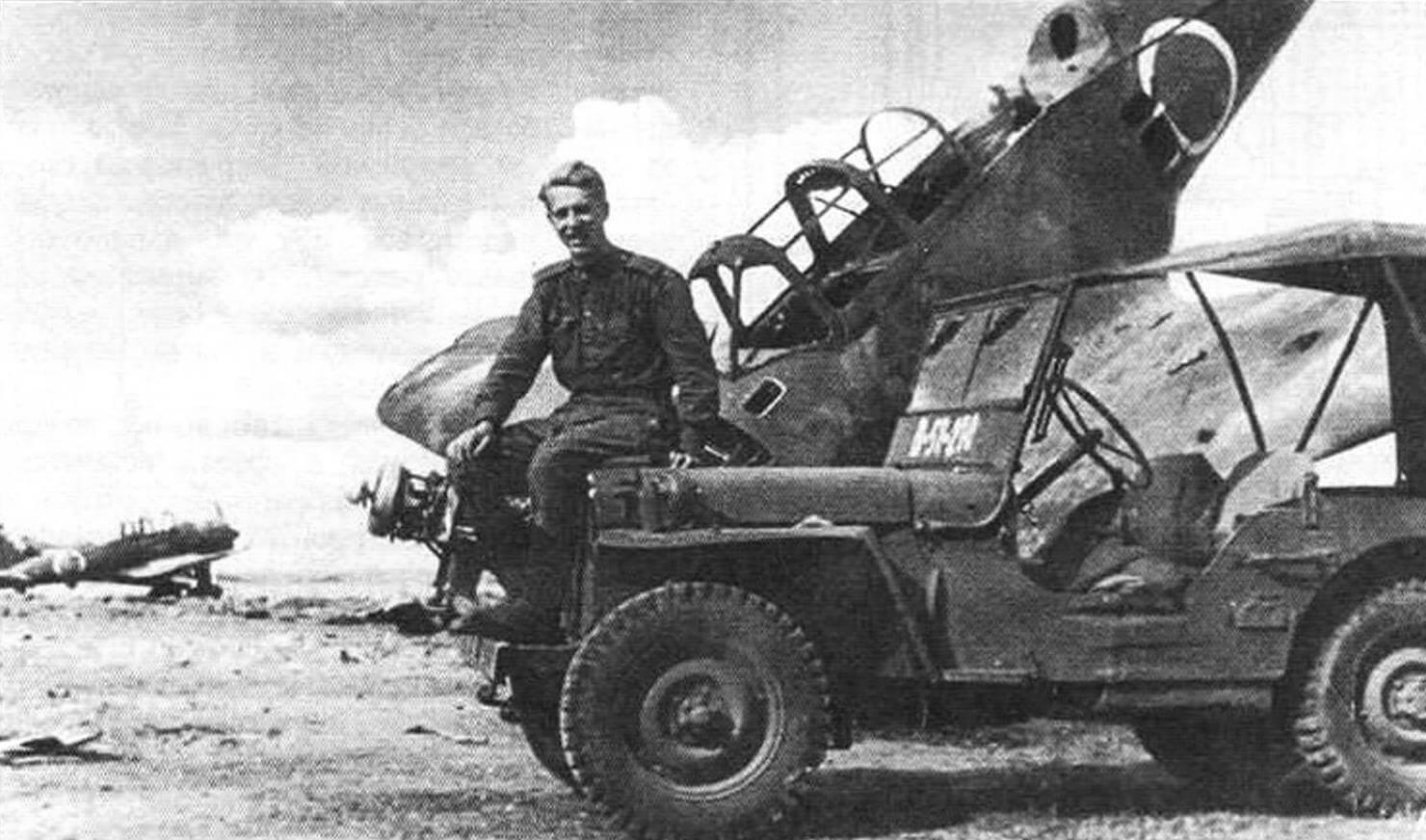 Willys МВ на захваченном японском аэродроме в Манчжурии (сентябрь 1945 года)