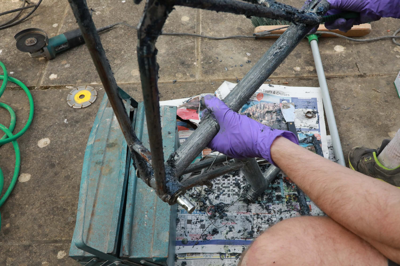 Шаг первый: очистка велосипеда