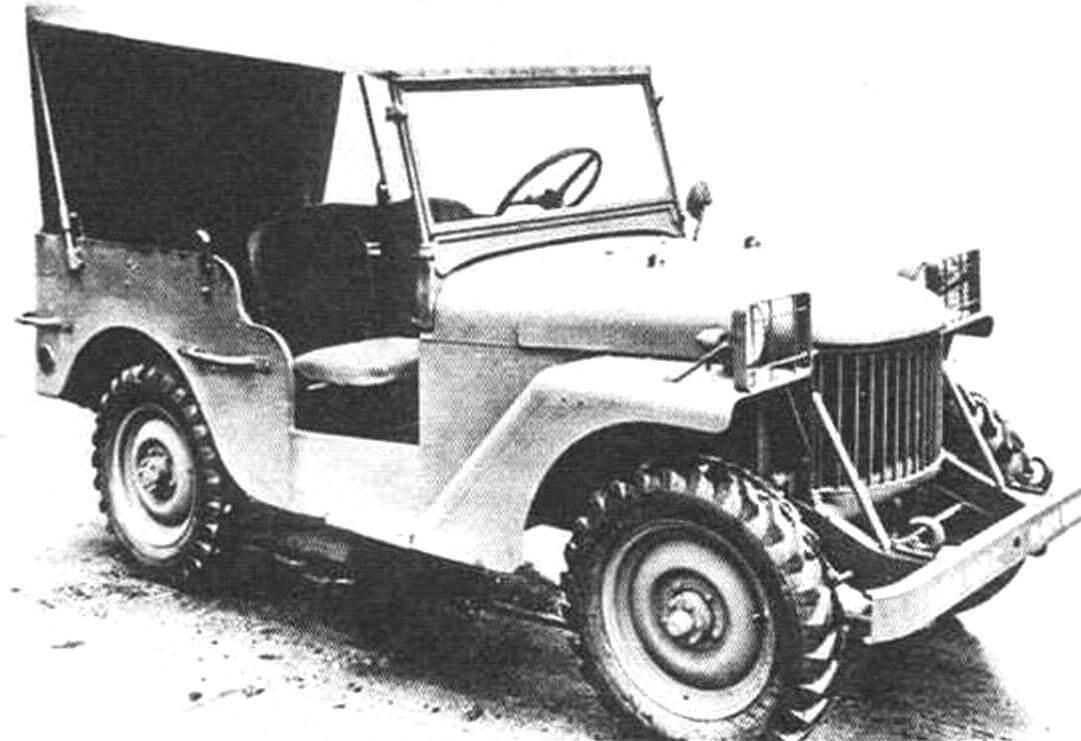 Willys Quad - первый опытный образец «Виллиса» был построен в октябре 1940 года