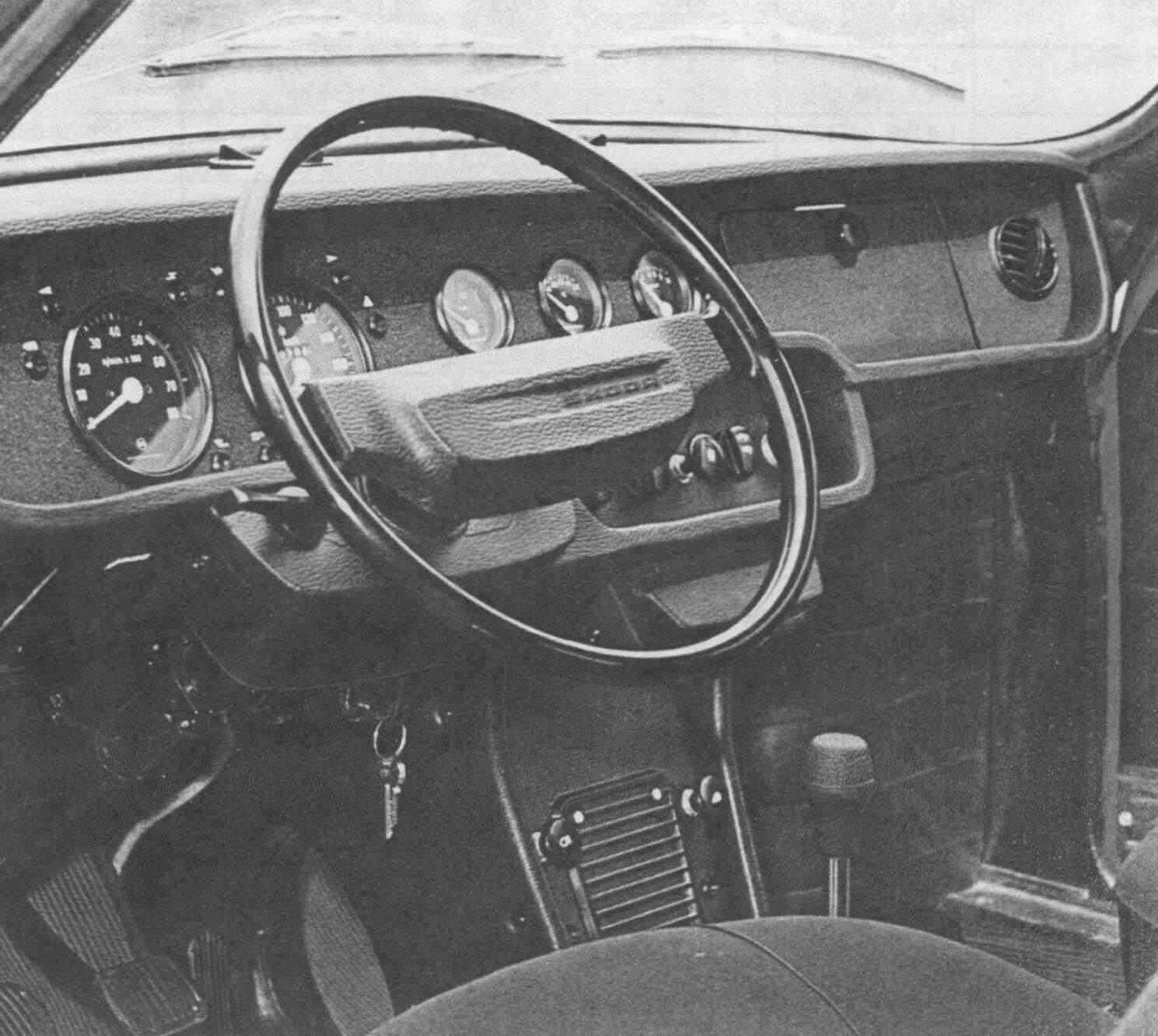 Салон Skoda 110R выпуска 1974 года