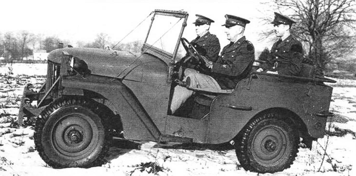 Трехместный Willys Quad на испытаниях (зима 1940 года)