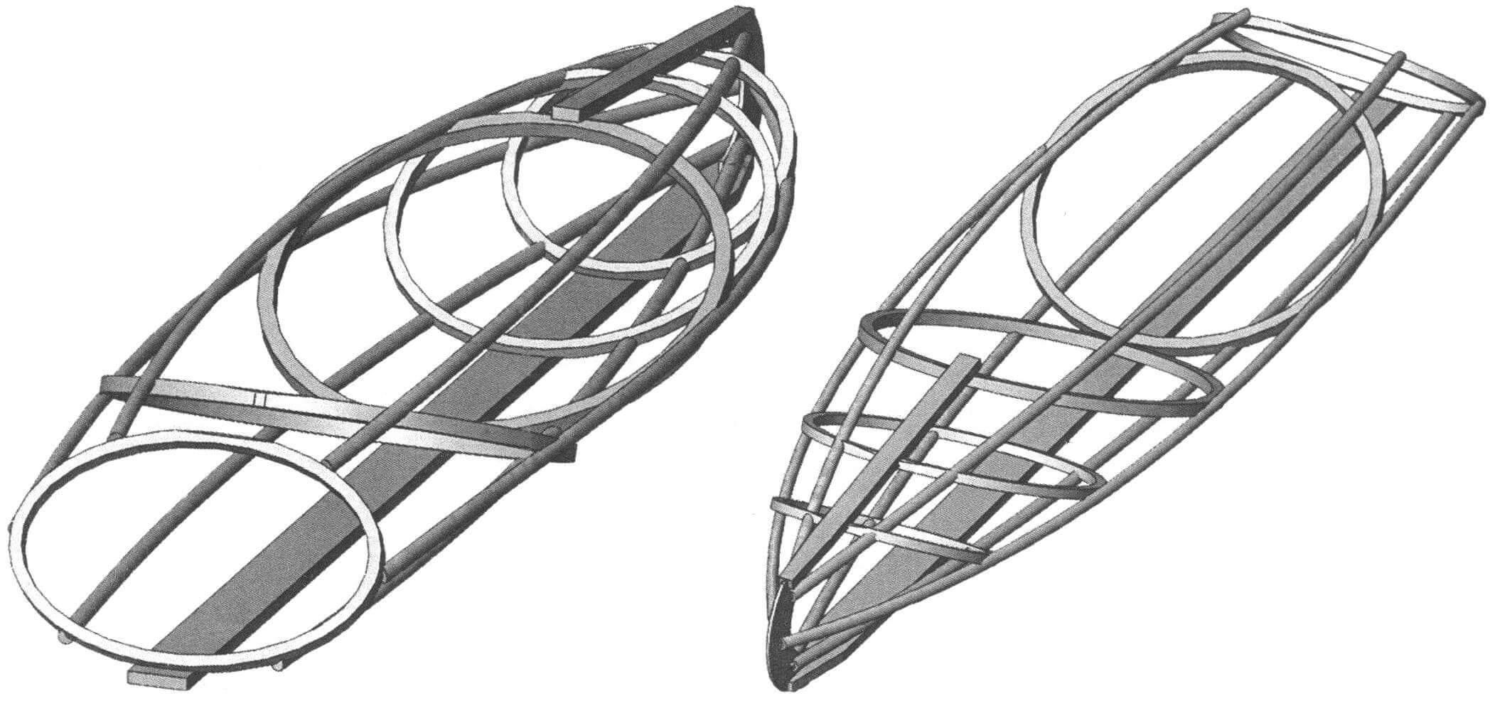 Работа по созданию лодки началась с прорисовки нескольких вариантов 3D-моделей