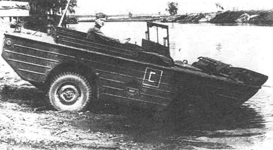 Автомобиль-амфибия Ford GPA, созданный на базе Ford GPW