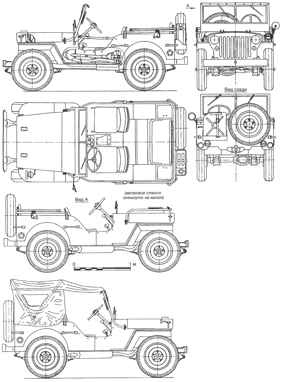 Автомобиль с поднятым тентом (в СССР машина поставлялась без брезентовых боковин)