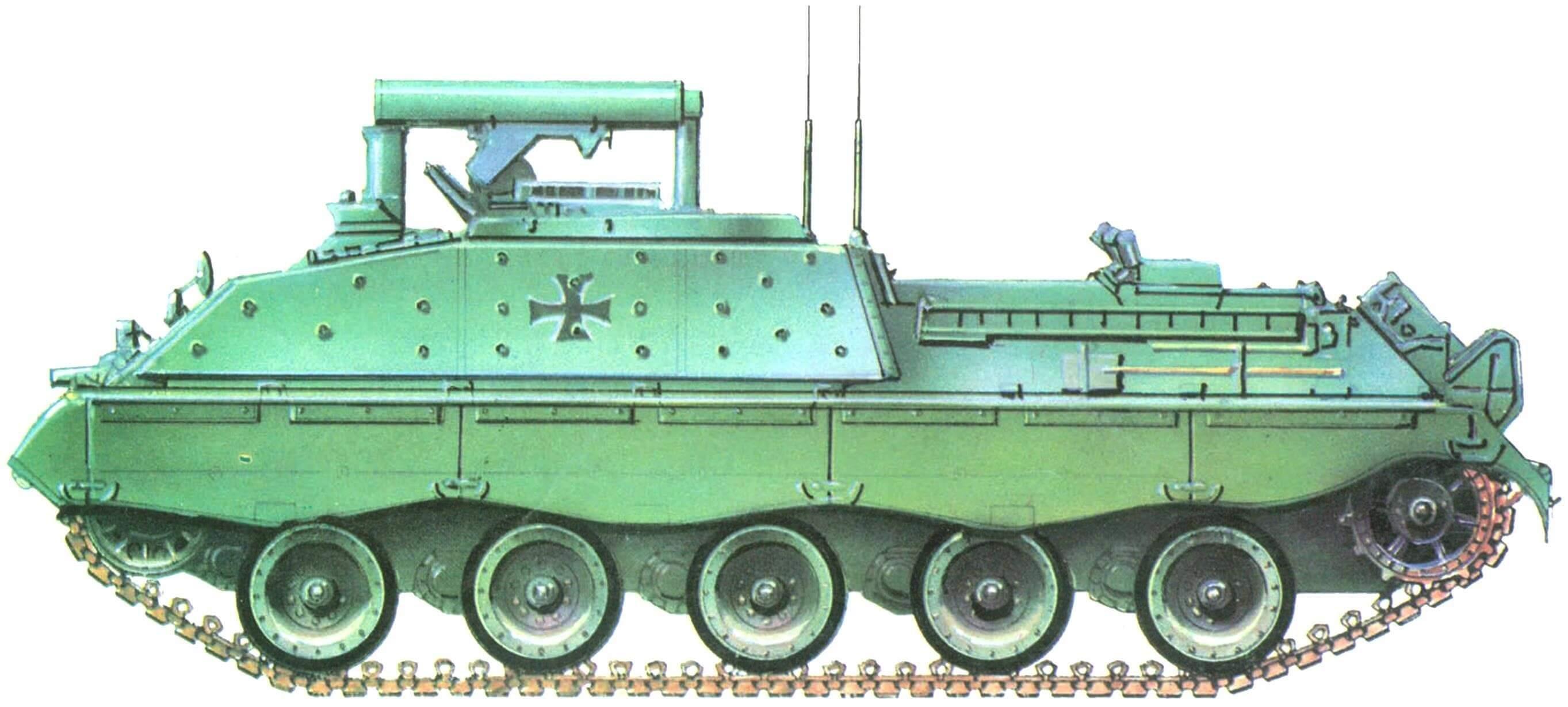Jaguar I в базовой окраске бундесвера