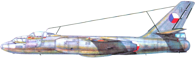Учебно-тренировочный Ил-28У Чехословацких ВВС
