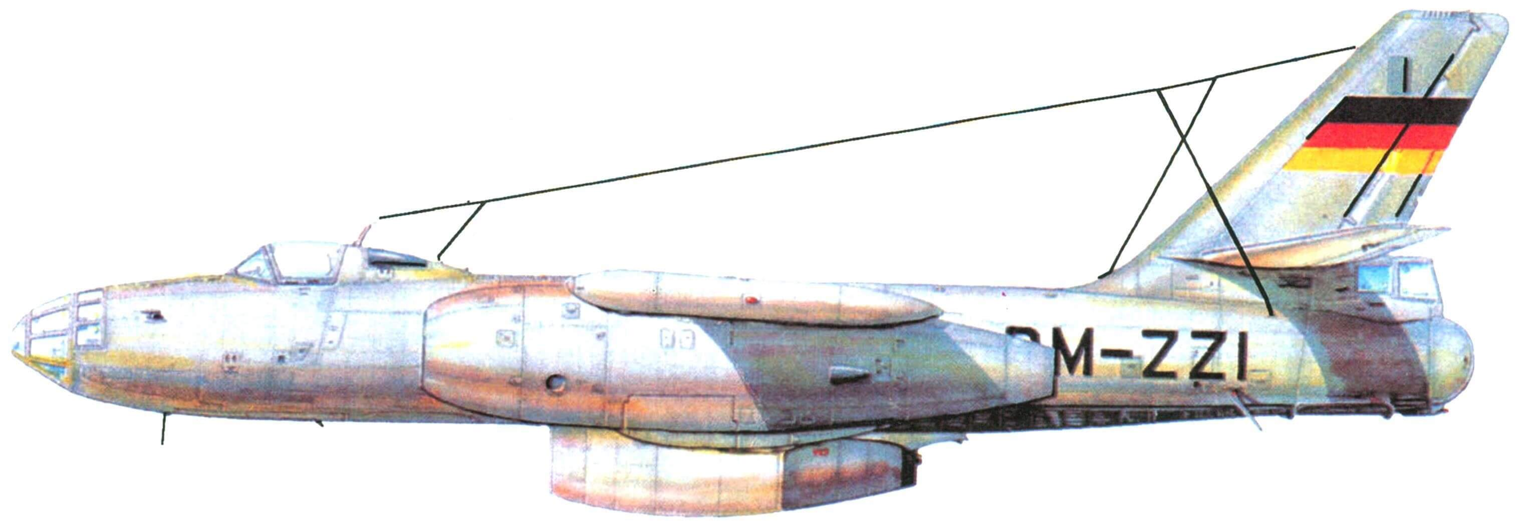 Опытный носитель Ил-28Р с экспериментальным двигателем Pirna 014A-0 V-09 (ГДР, 1959 г.)