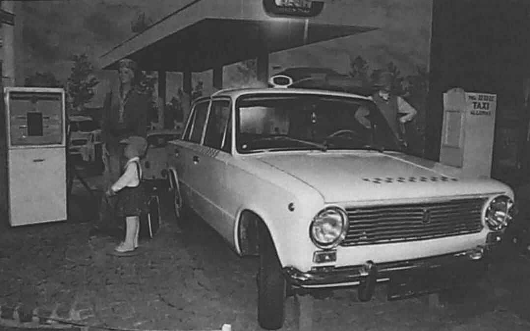 С начала 1970-х до середины 1980-х годов ВАЗ-2101 был основным автомобилем такси в Венгрии (фото из технического музея в Будапеште)