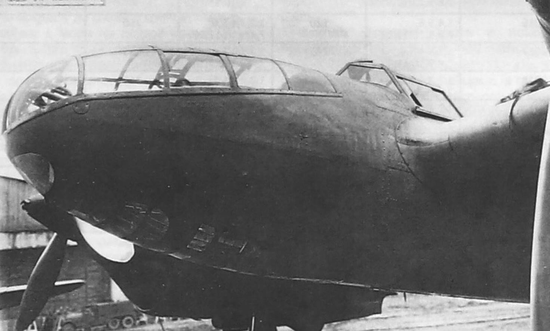 Первый экземпляр бомбардировщика ММН на испытаниях в НИИ ВВС, 1939 год. В СБ-РК намеревались использовать его носовую часть и хвостовое оперение