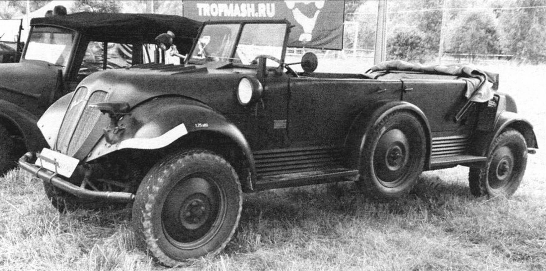 Tempo G 1200 отличался оригинальной конструкцией: два мотора, все колеса ведущие и управляемые
