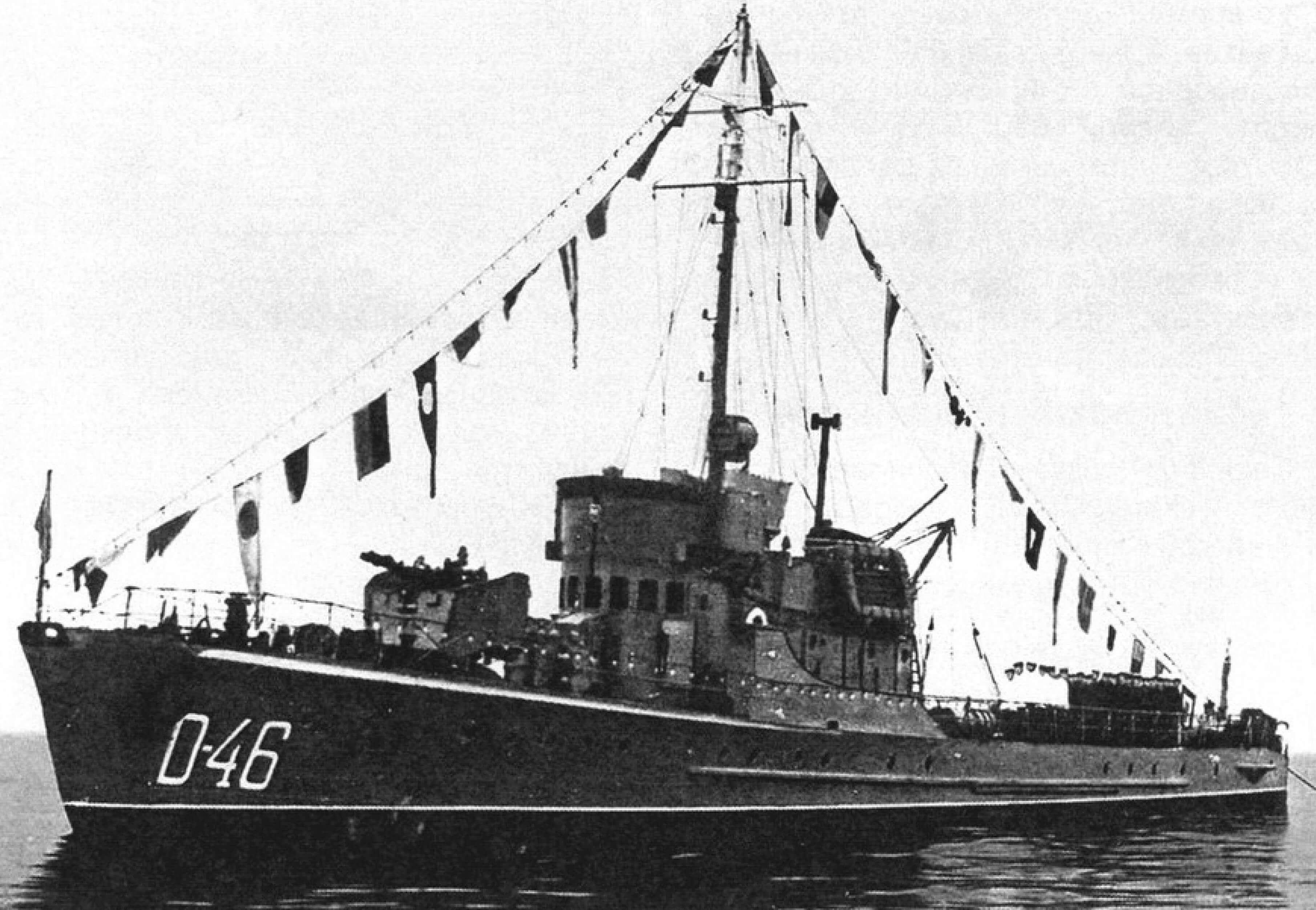 Тральщики серии «Jaskolka», переоборудованные в патрульные корабли, в дозоре (послевоенные фото)
