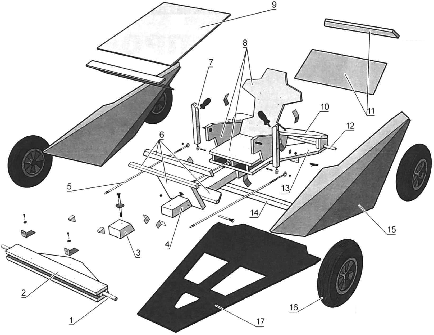 Основные детали миникара Hyundai Soapbox