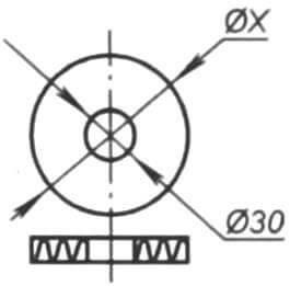 Шпангоут (гофрокартон толщиной 2-3 мм, 3 шт.)