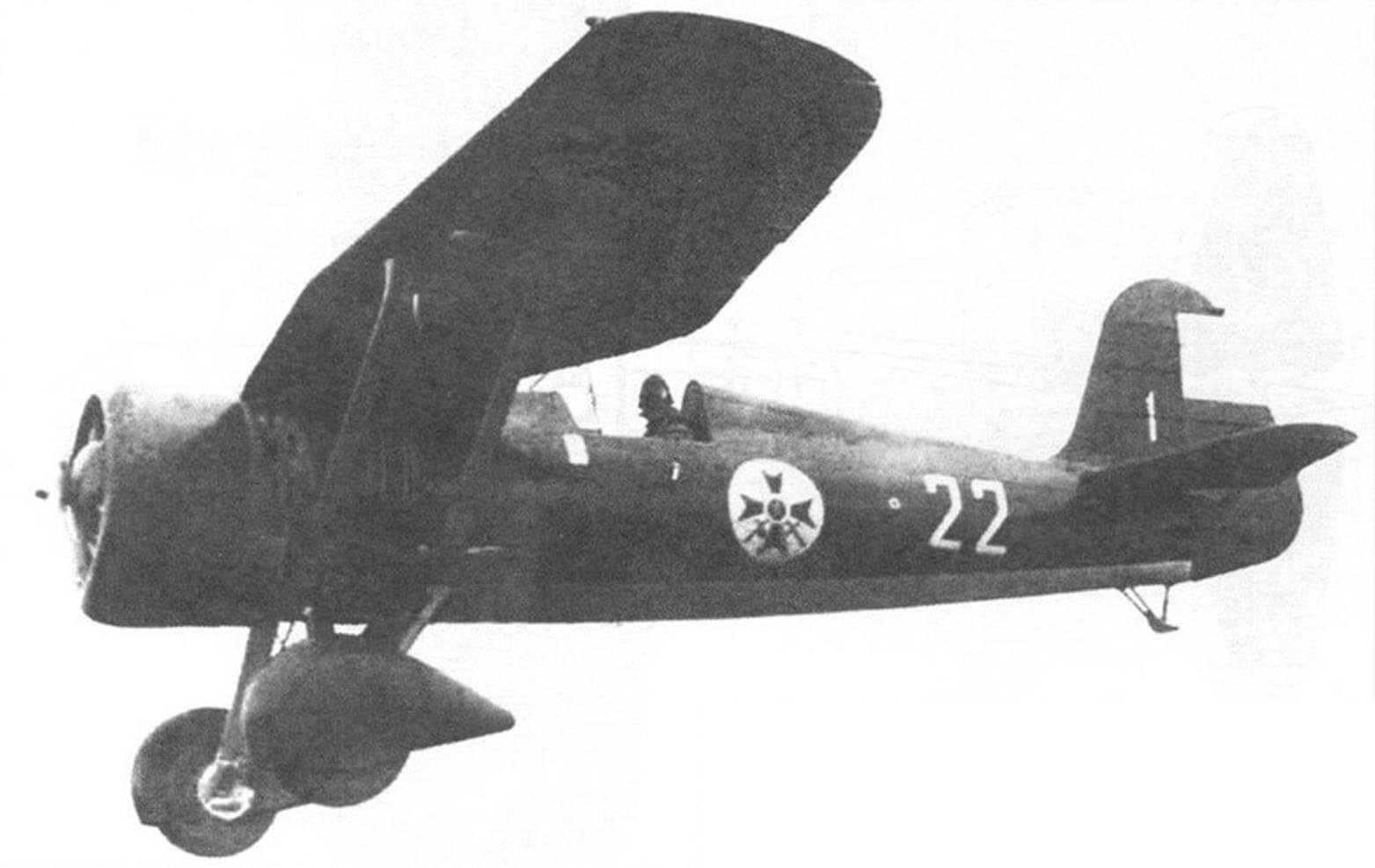 Р-24В болгарских ВВС в полете, фонарь кабины снят