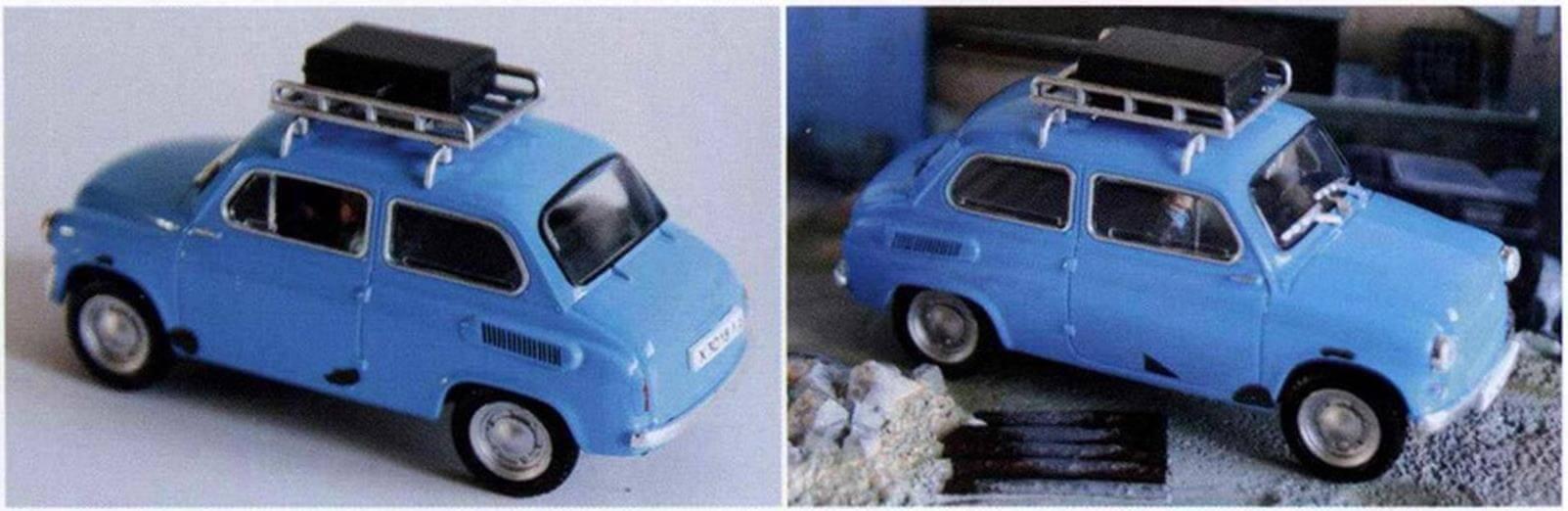 Модель позднего ЗАЗ-965А из журнальной серии, посвященной фильмам про Джеймса Бонда