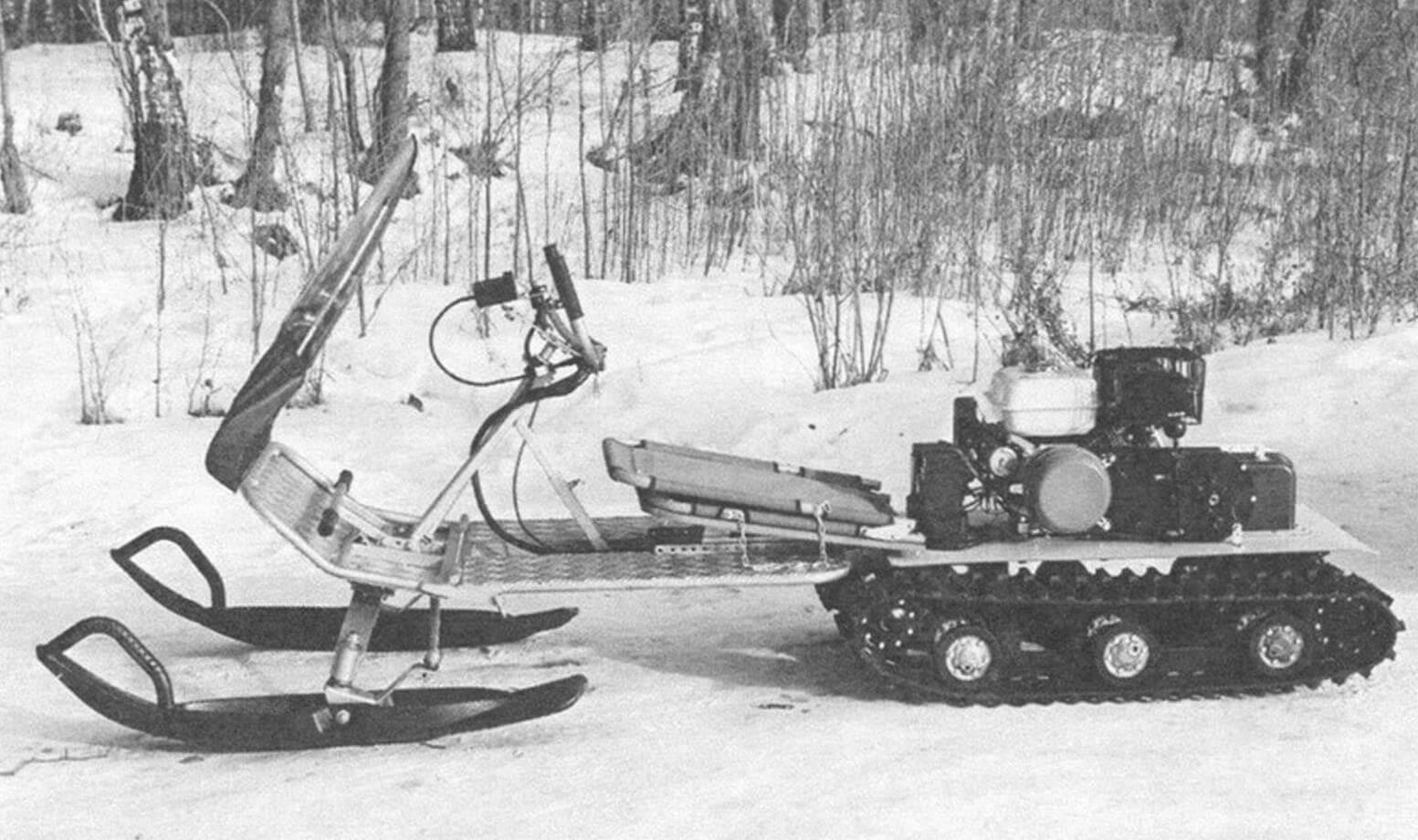 В «Охотнике» мы вернемся к схеме с двумя лыжами, опробованной и хорошо себя зарекомендовавшей на первом «Тритоне»