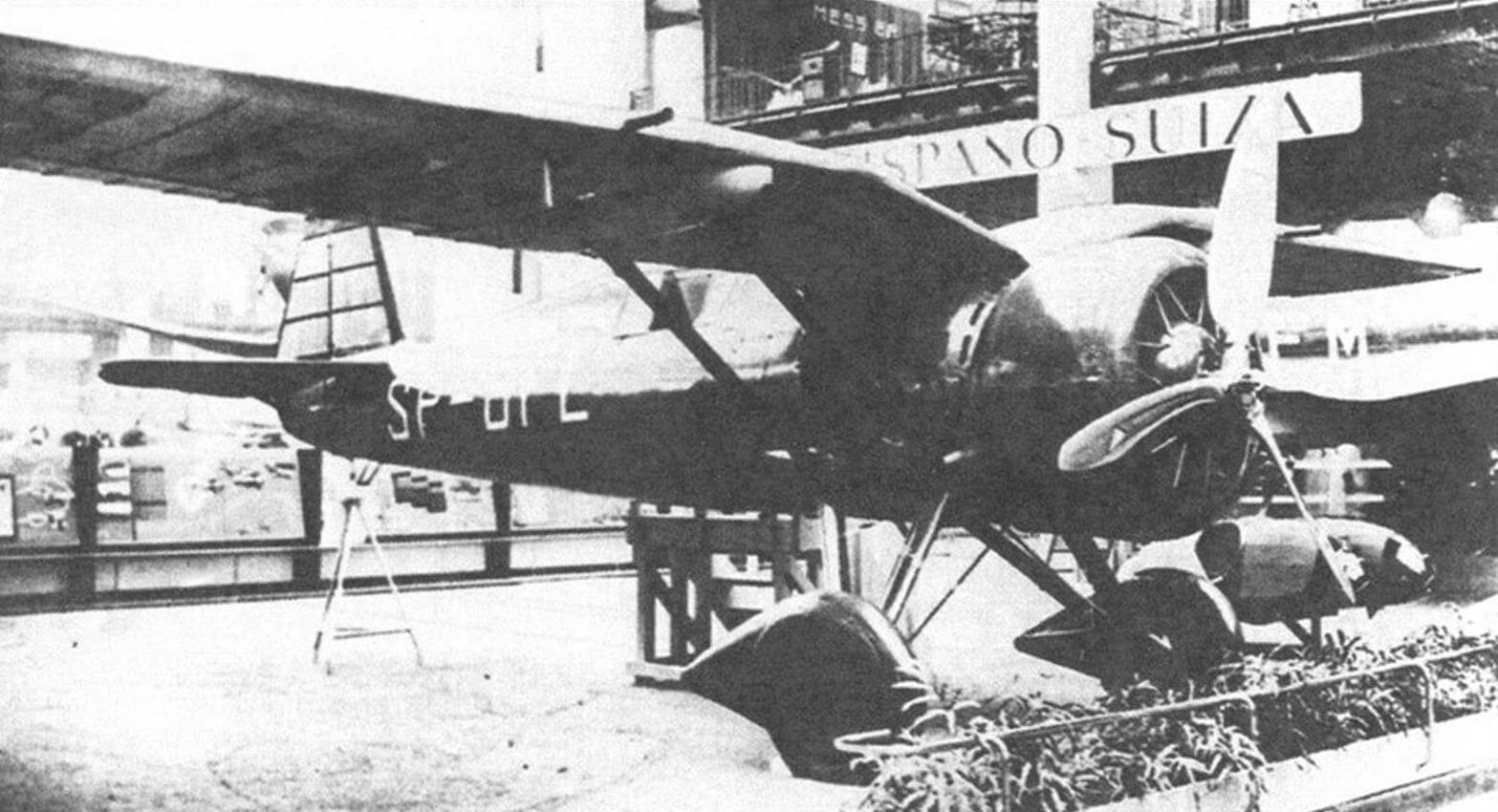Эталон Р-24А на авиасалоне в Париже, 1936 г.