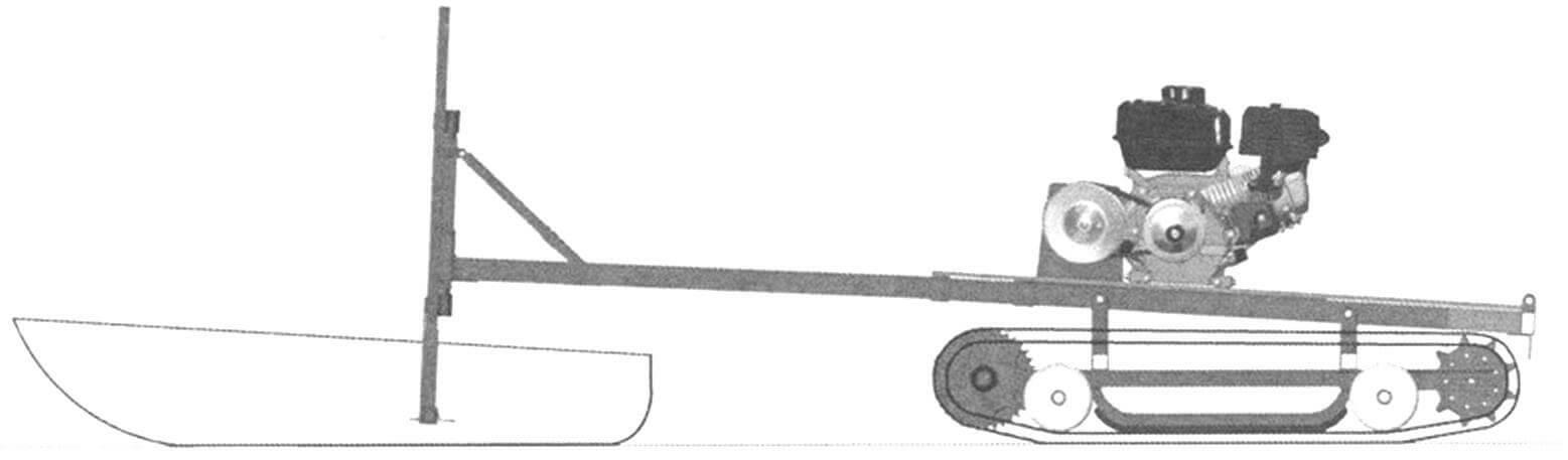 Компоновочная схема снегохода «Тритон»