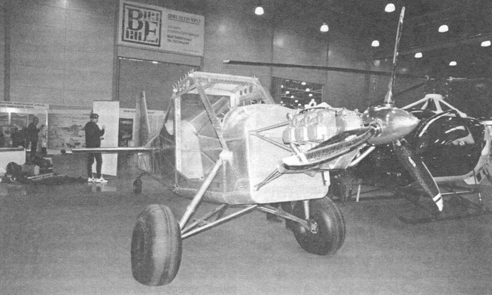 На момент открытия выставки самолет Bush 505 SL еще находился в процессе достройки
