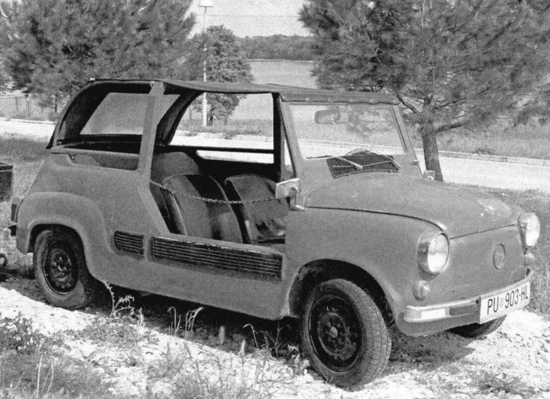 Кабриолет, построенный любителями-самодельщиками на основе автомобиля Zastava 750