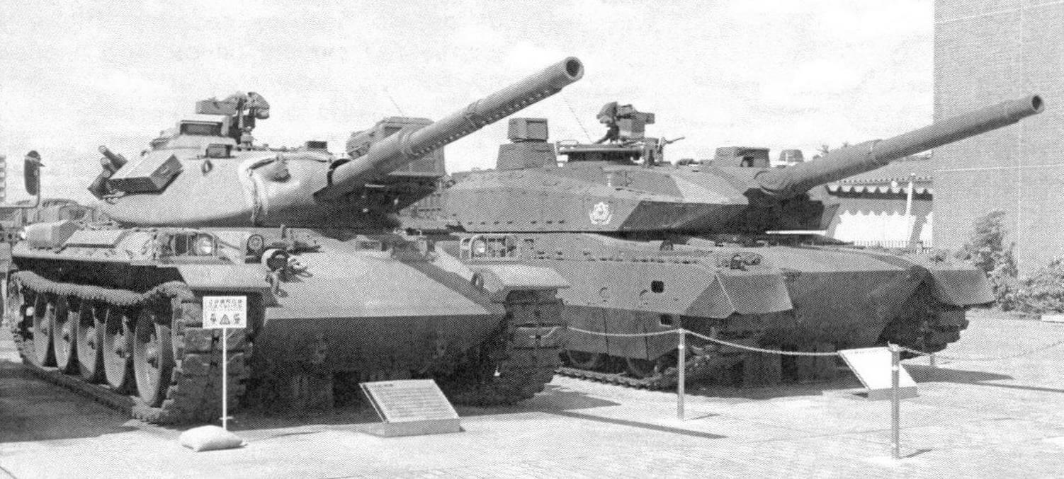 Прототип танка «10» и основной боевой танк «74»
