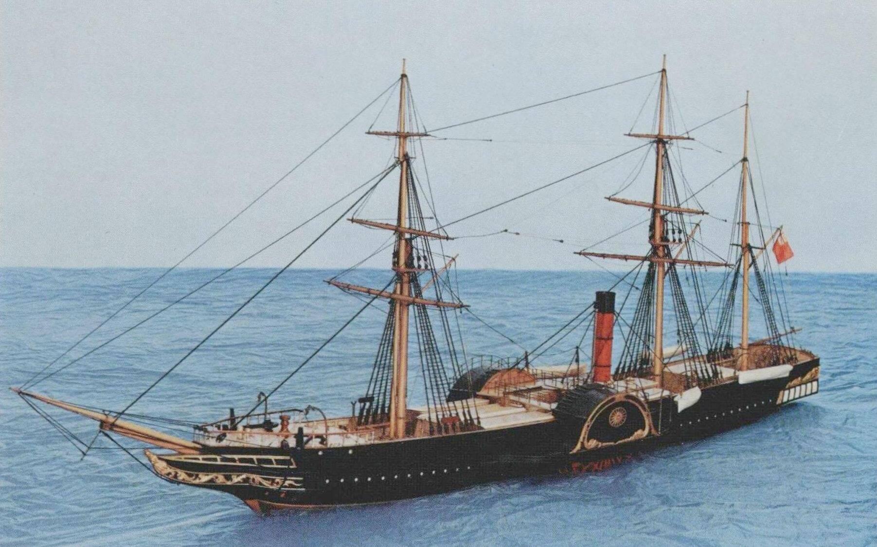 Современная модель лайнера / пакетбота «Британния»