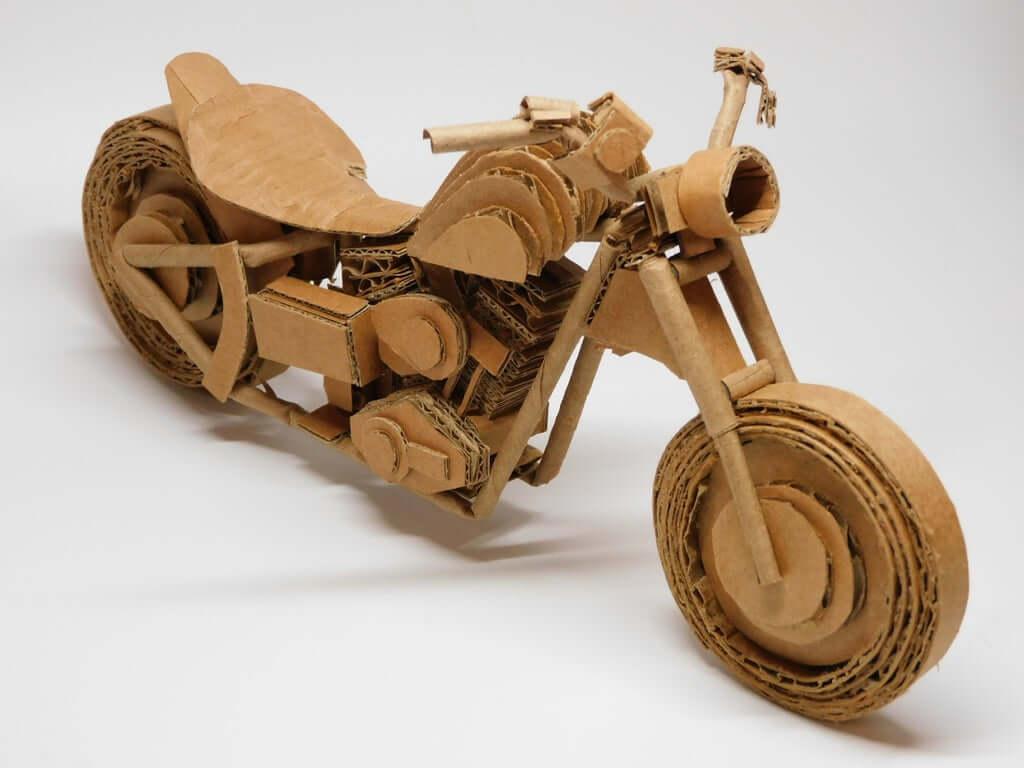 Картонная модель мотоцикла Harley-Davidson