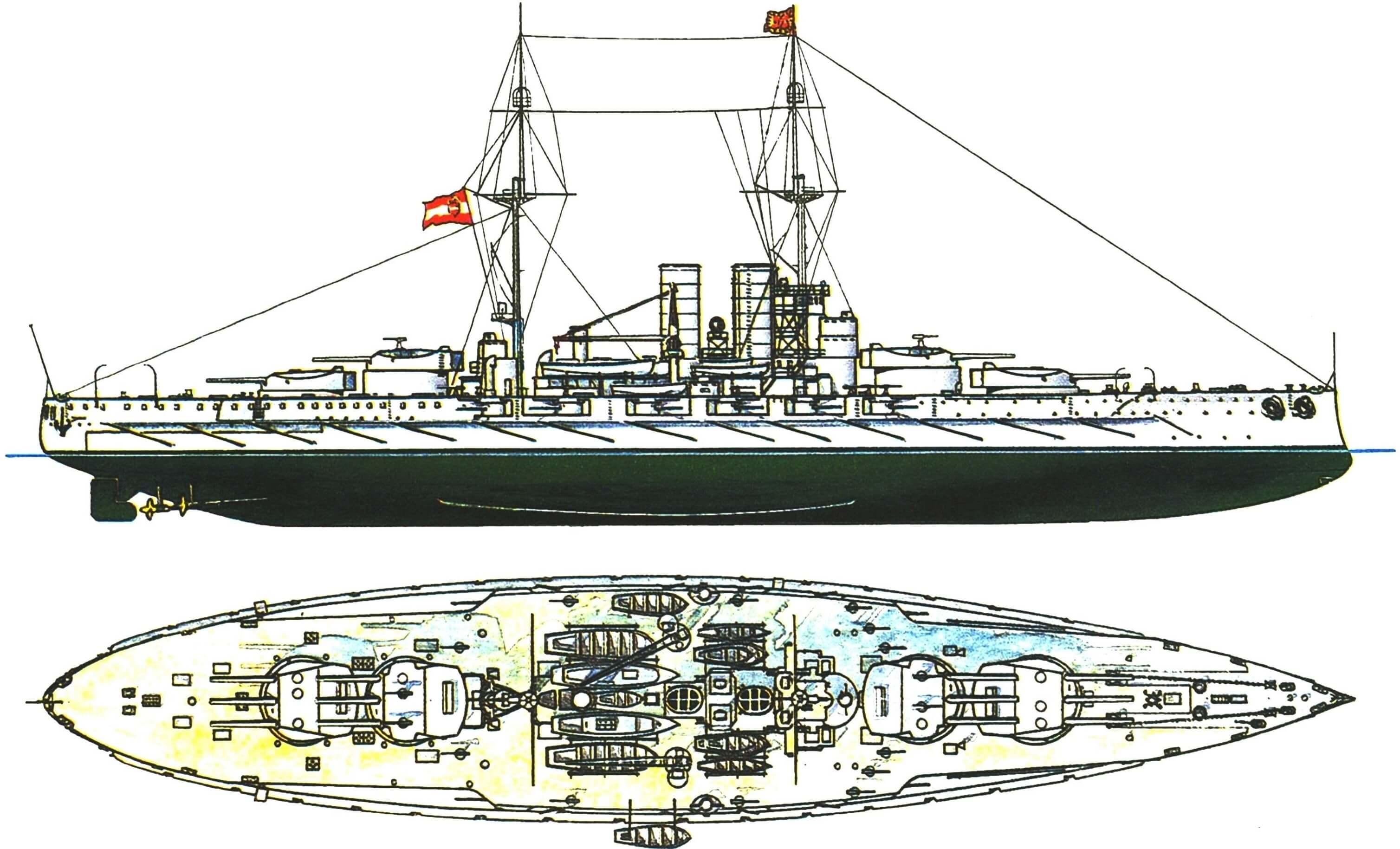 163. Линейный корабль «ВИРИБУС УНИ-ТИС», Австро-Венгрия, 1912 г.
