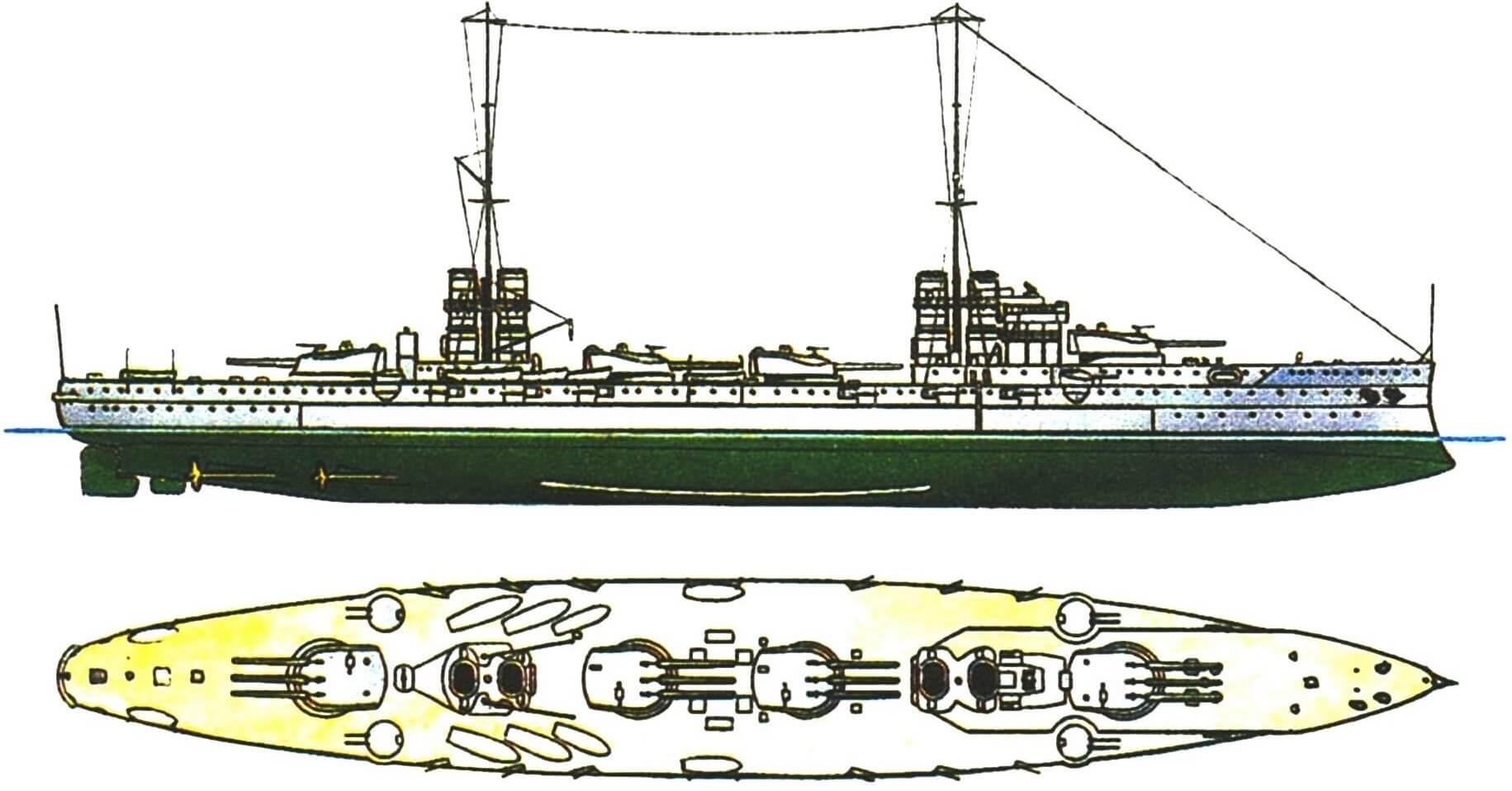 164. Линейный корабль «ДАНТЕ АЛИГЬЕРИ», Италия, 1913 г.