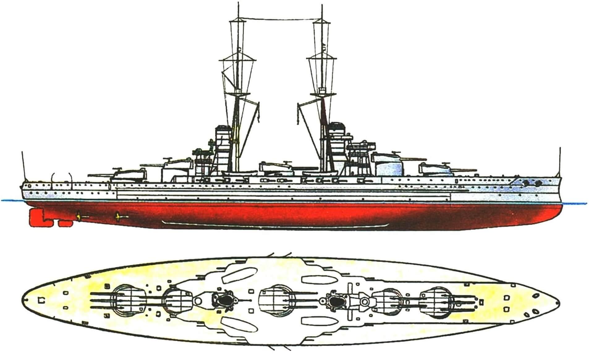 165.Линейный корабль «ДЖУЛИО ЧЕЗА-РЕ», Италия, 1914 г.