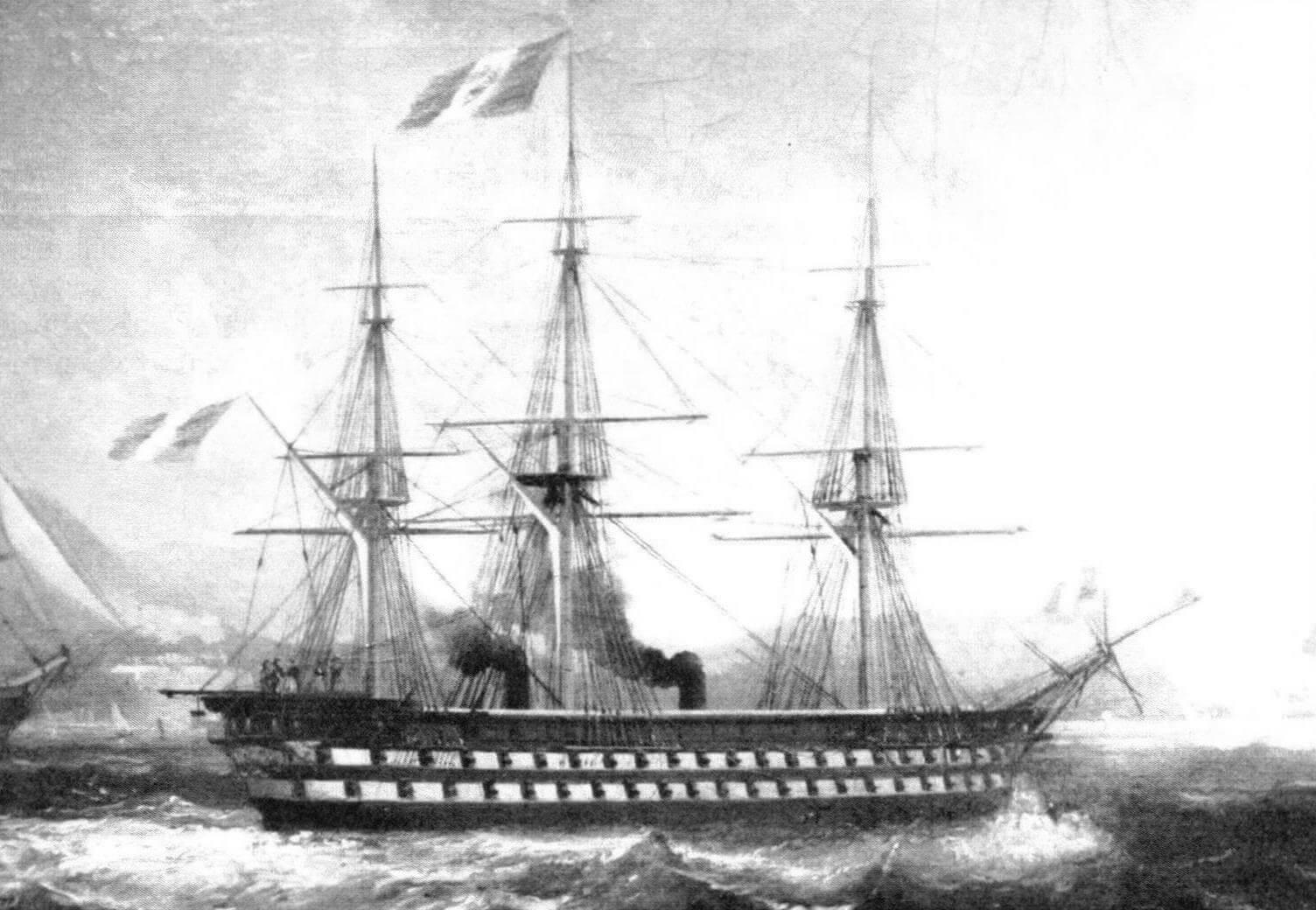 Линейный корабль «Наполеон» в Тулоне