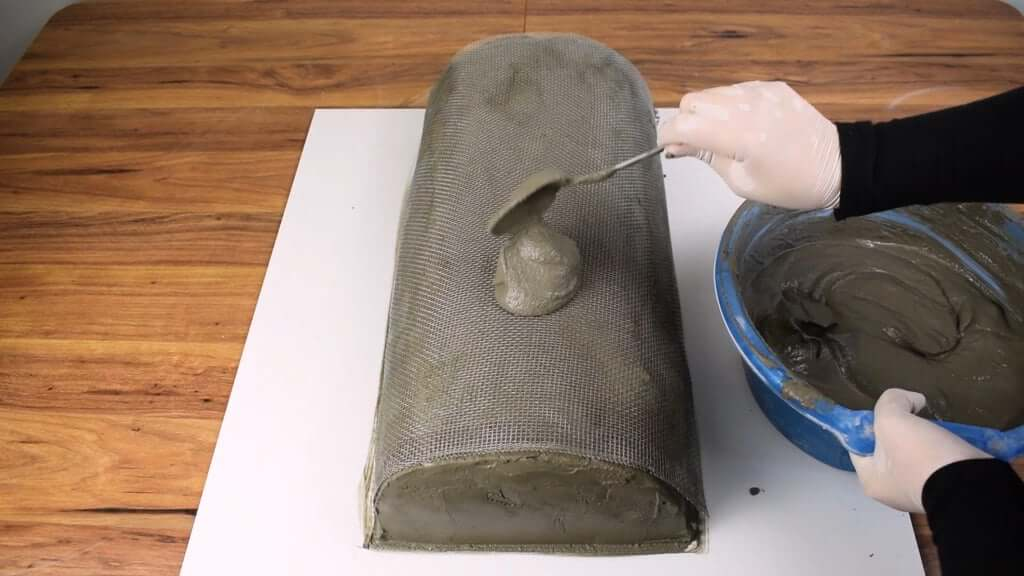Шаг 2: 1-е бревно - Основная форма бетона