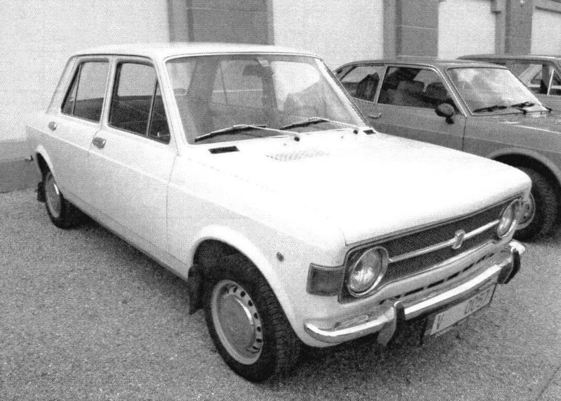 4-дверный седан Fiat 128 Berlina, выпушенный в начале 1970-х годов