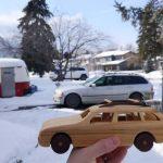 Деревянный универсал BMW