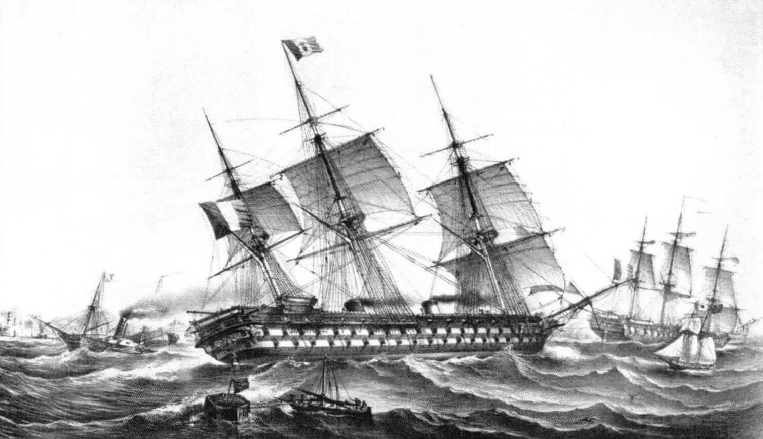 После вступления в строй «Наполеон» некоторое время был самым быстроходным линейным кораблем в мире