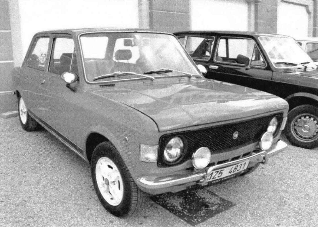 Автомобиль Fiat 128 Rally оснащался форсированным двигателем