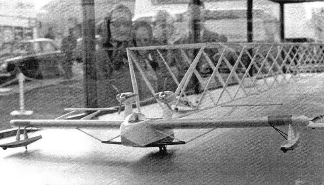 Модель «V-лайнера» на авиасалоне Фарнборо-68