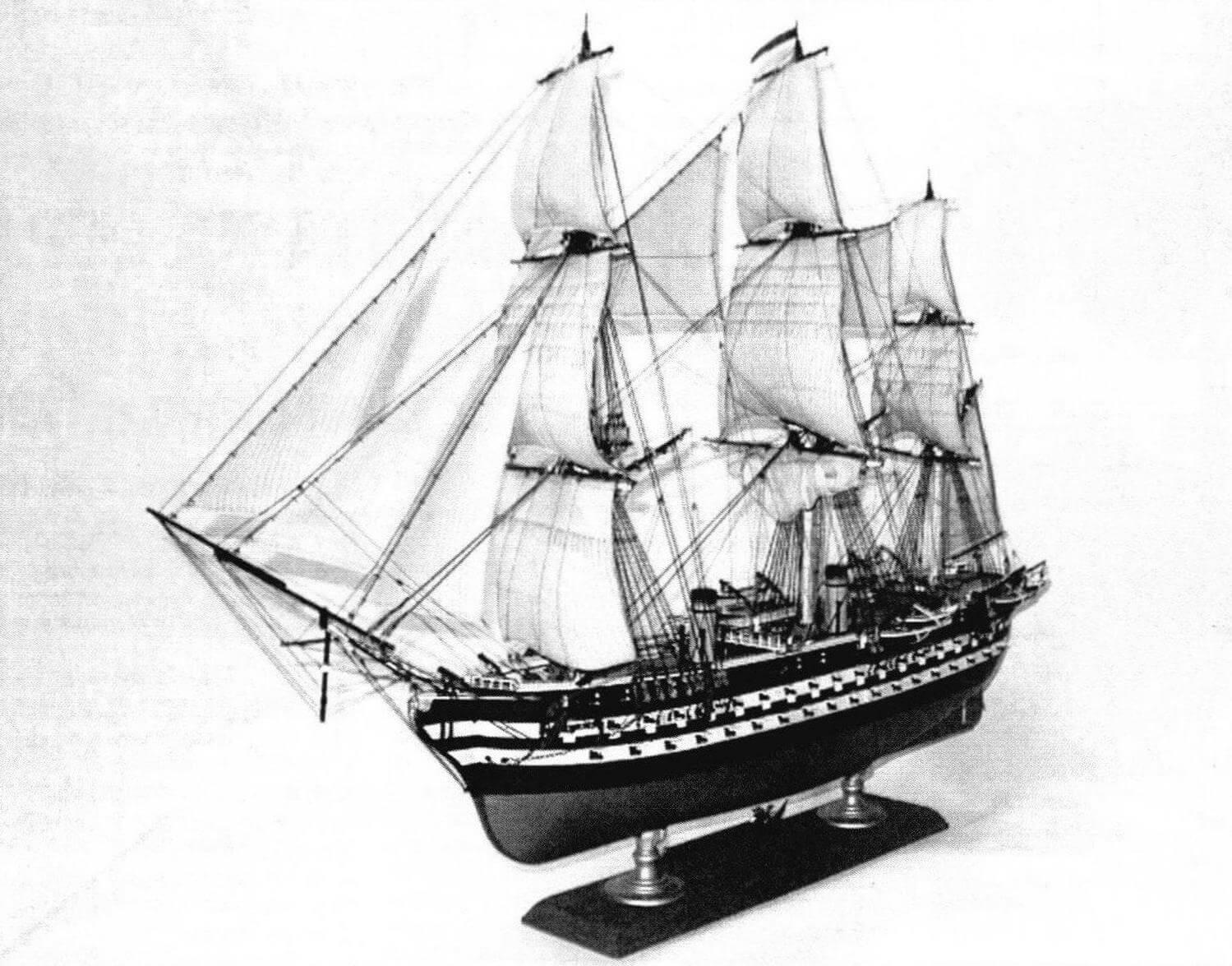 Модель линейного корабля «Наполеон» (обший вид и деталировка)