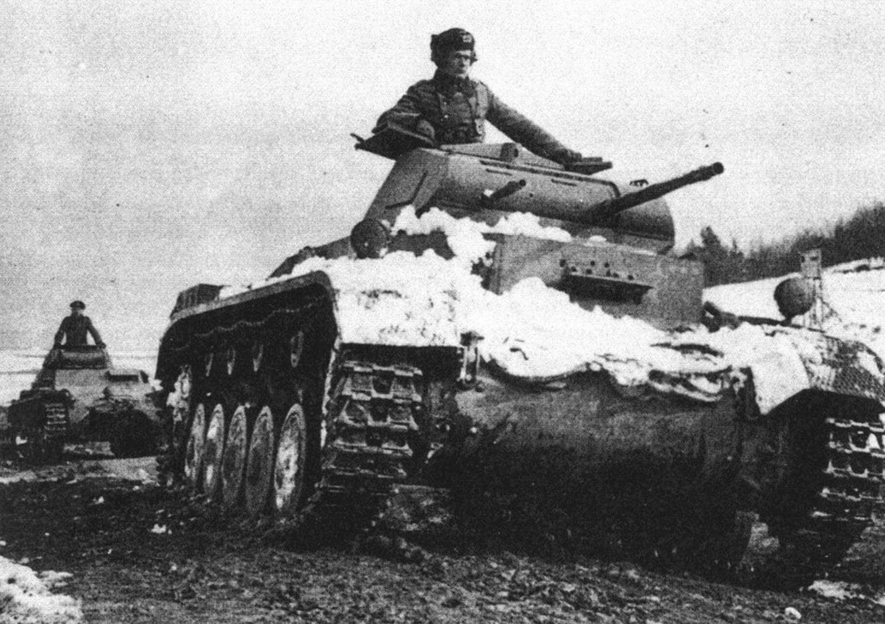 Pz.II Ausf.A на довоенных маневрах Вермахта. 1939 год