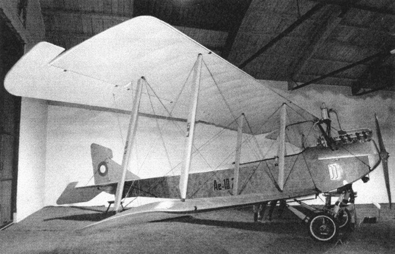 Aero Ае-10- первый серийный самолет чехословацкой постройки
