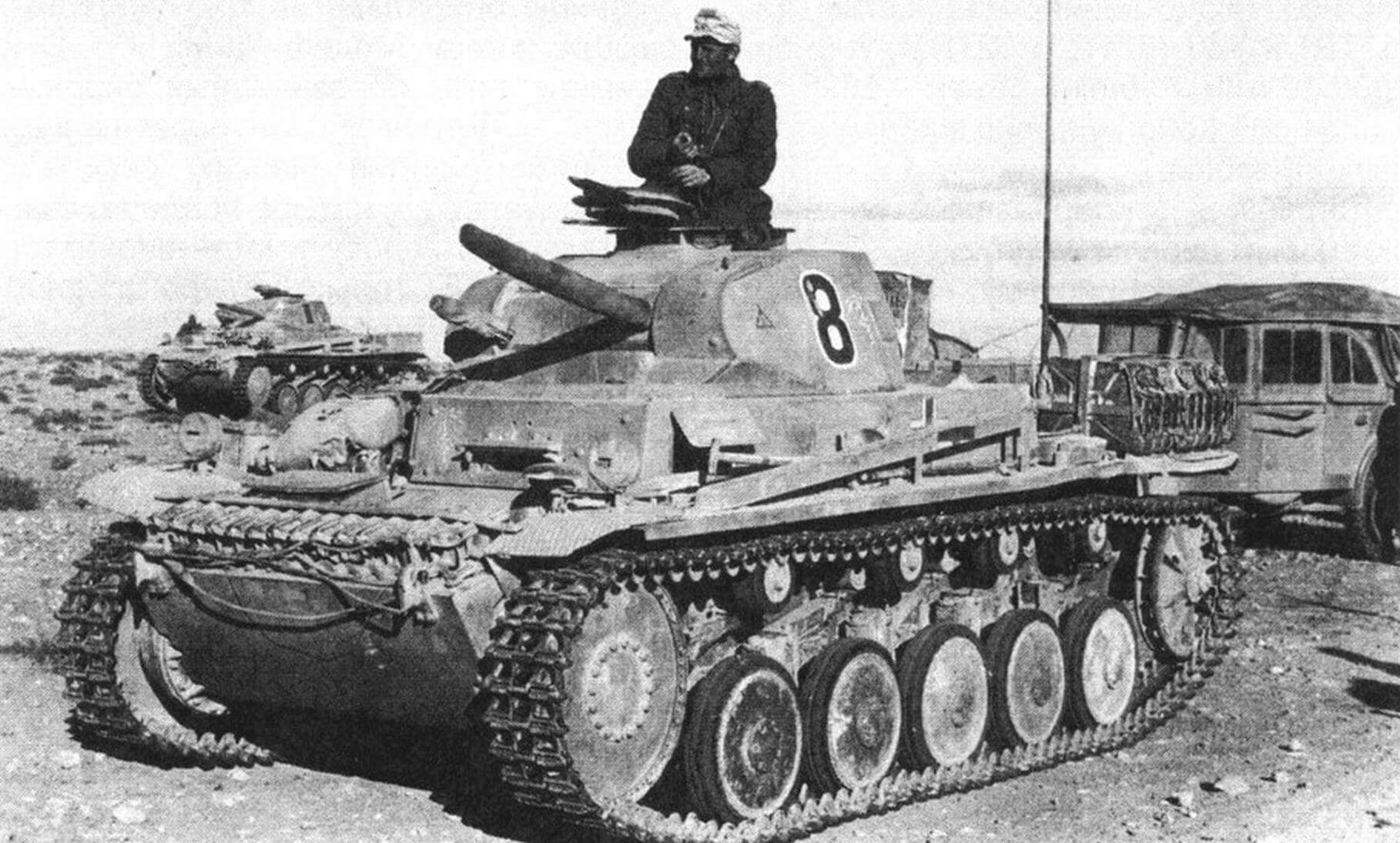 Танки Pz.II Ausf.A - С в Северной Африке. 1941 год