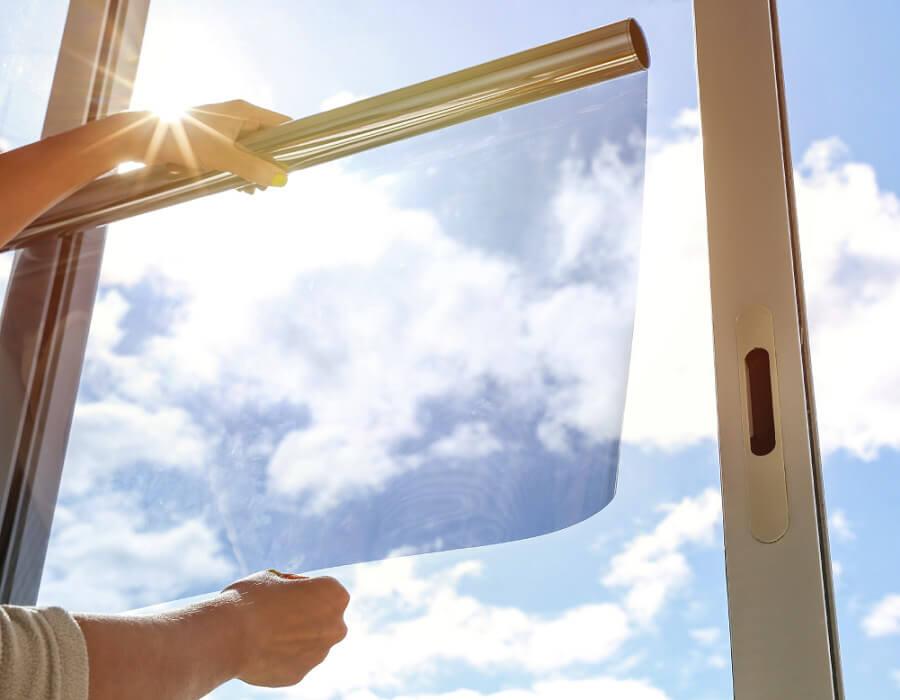 Тонировка окон офиса защита от солнца