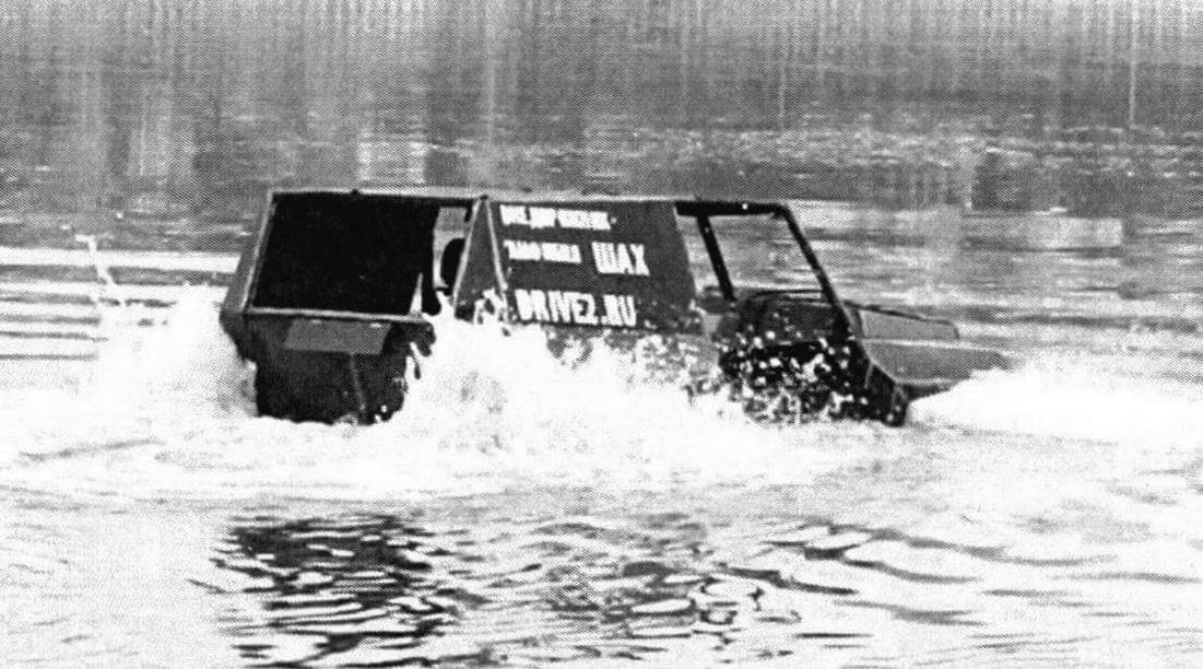Первые ходовые испытания показали, что амфибия обладает высоким запасом плавучести