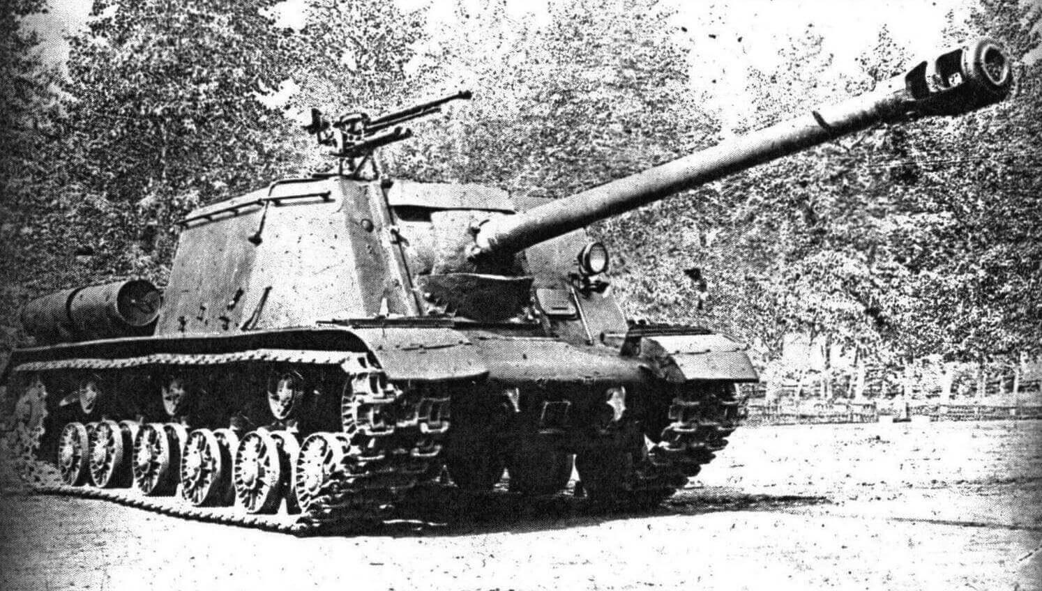 Самоходно-артиллерийская установка ИСУ-122С во дворе завода № 100. Апрель 1944 года