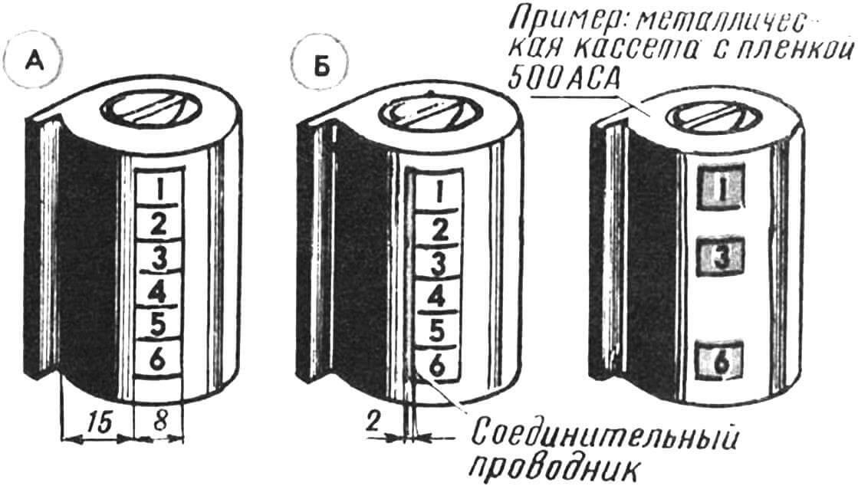 Рис. 2. Расположение контактных площадок самодельного ДХ-кода