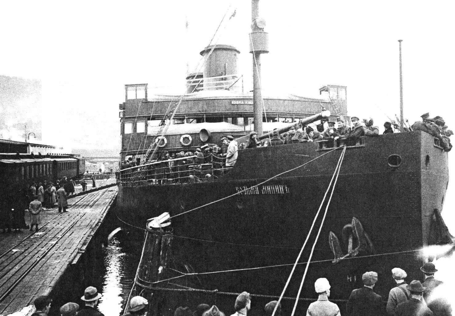 «Козьма Минин» в Норвегии, 1920 год