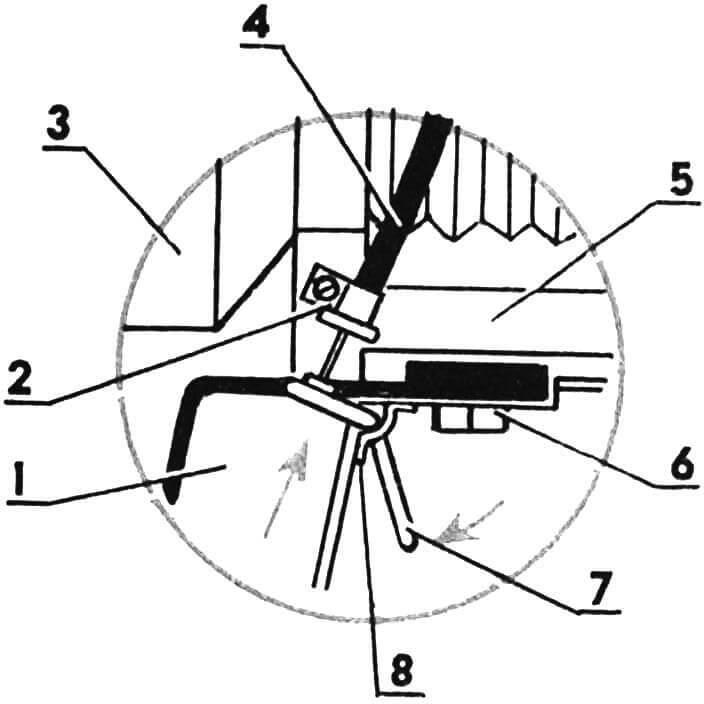 Рис. 4. Вариант установки спусковой скобы
