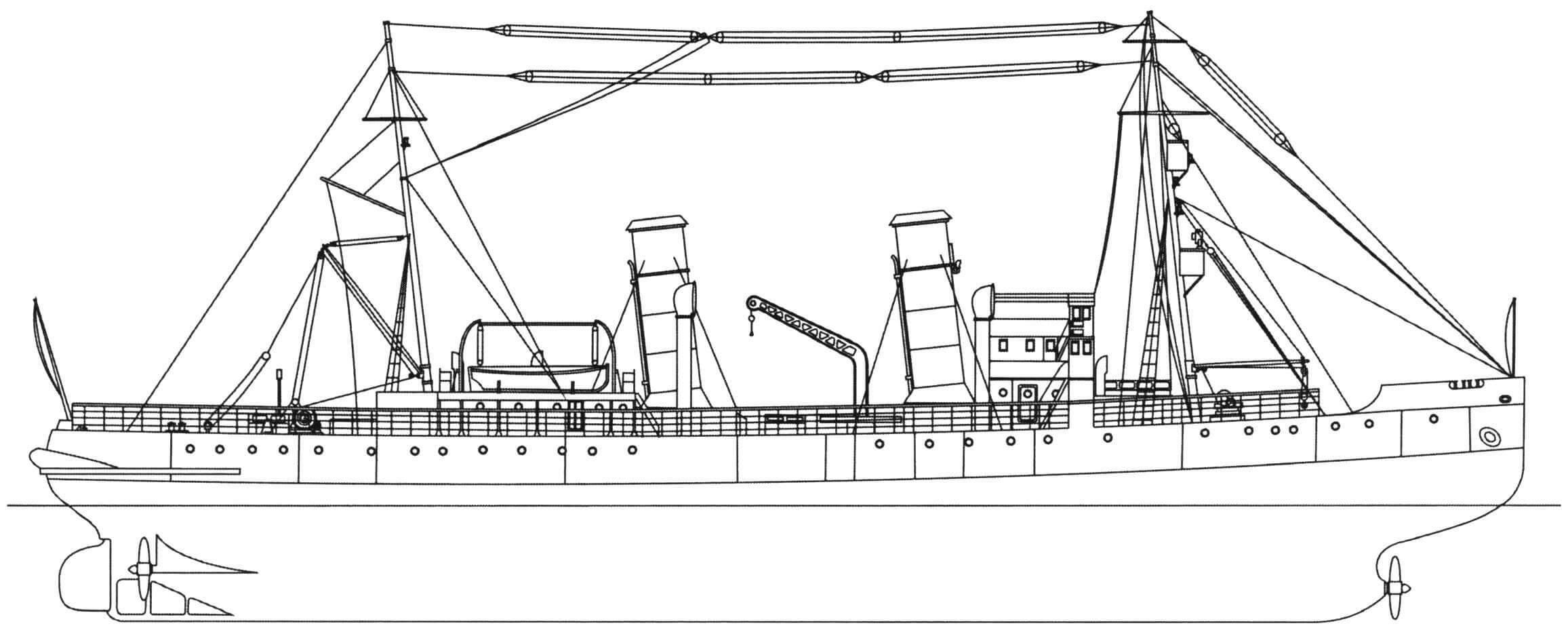 Общий вид построенного на британской верфи морского ледокола