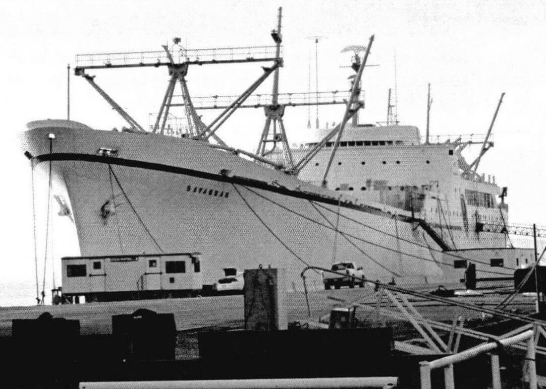«Саванна» у причала. Срок активной эксплуатации судна оказался небольшим...
