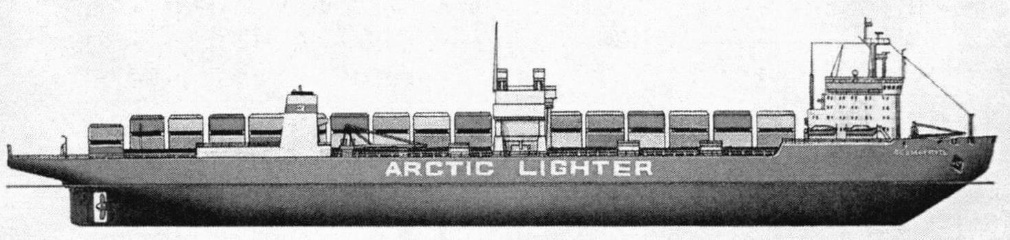 Лихтеровоз/контейнеровоз «Севморпуть». В отличие от «американца», «немца» и «японца», построенное в СССР судно, согласно доступной информации, имело двойное назначение -гражданское и военное